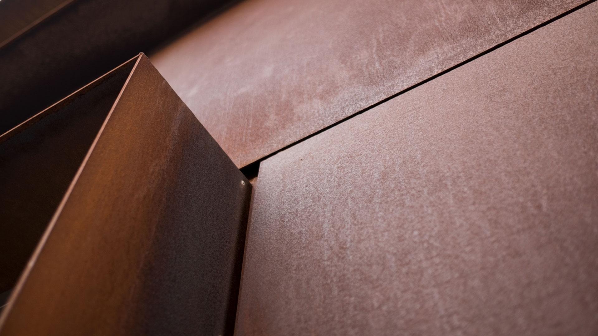 ورق هایی به جنس فولادی کورتِن